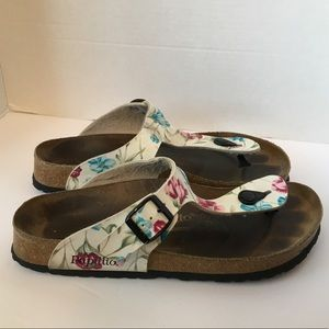 Birkenstock papillio floral gizeh sandals size 10